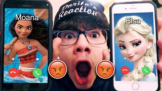 DO NOT CALL ELSA AND MOANA!! (FROM DISNEY) AT THE SAME TIME!! *THEY HAD A HUGE ARGUMENT*