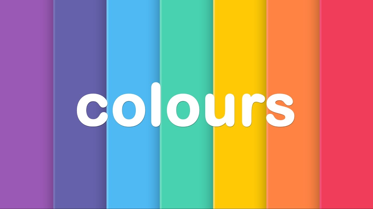 Learn Colours For Kids British English Esl Esol Preschool Montessori Primary Vocabulary Podcast Youtube