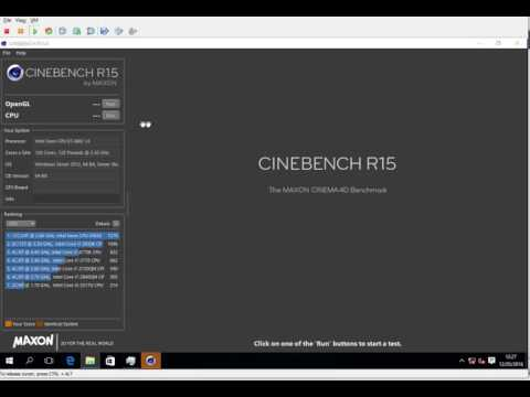 Cinebench CPU Xeon E7-8867 128 cores