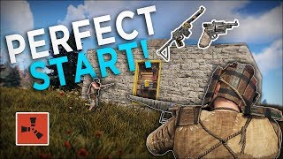 WIPE DAY COUNTER RAID for the PERFECT START! - Rust Solo Survival #1