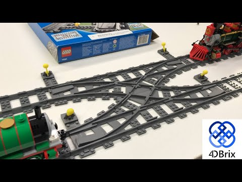 4DBRIX CROSSOVER TRAIN TRACK Compared To LEGO 7996