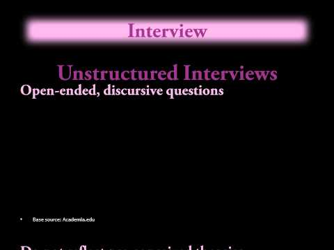 Research Methods - Interview