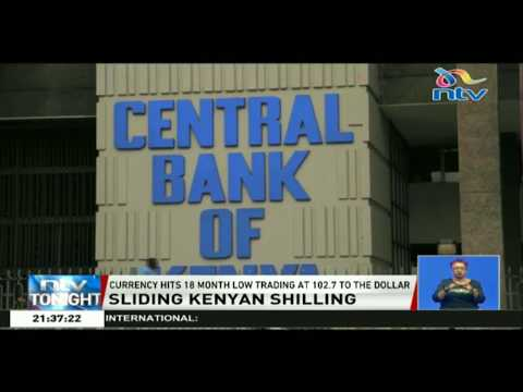 Kenyan Currency Hit 18 Month Low Trading At 102.7 To The Dollar