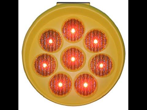 Red LED Sunflower - Solar Powered Warning Traffic Signal