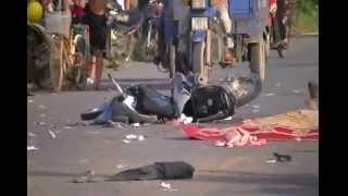 Kinh hoàng xe tải đâm người chết tươi tại Văn Giang - Hưng Yên