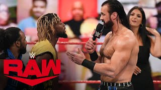 Drew McIntyre and Kofi Kingston both want a WWE Title opportunity: Raw, May 24, 2021