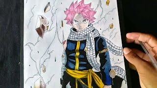 Speed drawing - Natsu dragneel (Fairy tail) Challenge D.Y.P