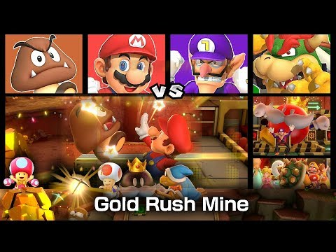 Super Mario Party Partner Party Gold Rush Mine 20 Turns #11