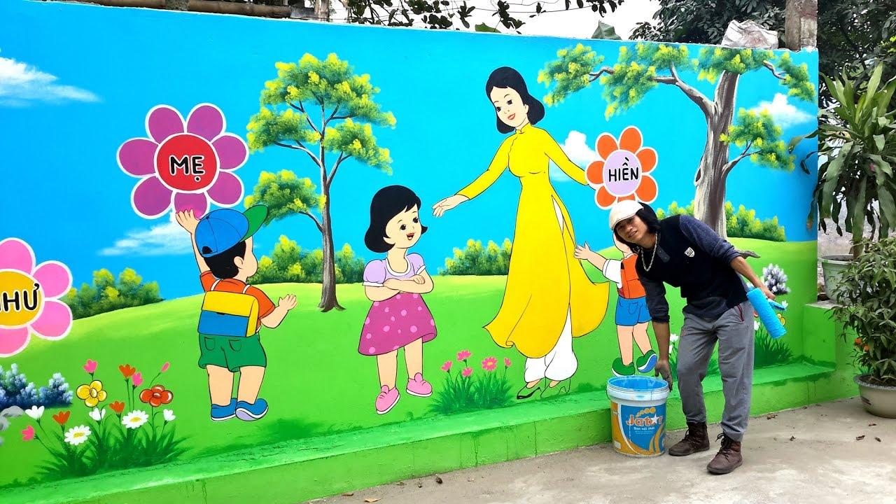 Tranh tường mầm non, thi công vẽ tranh tường mầm non trên toàn quốc
