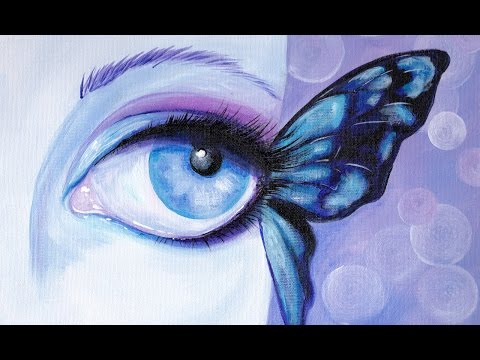 Butterfly Eye in Acrylic paint for Beginners #aboutface #3 Big Art Quest