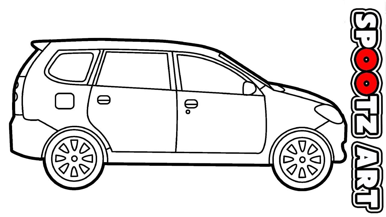 Cara Menggambar Mobil Toyota Avanza Youtube