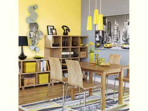 Gray And Yellow Living Room Ideas Youtube
