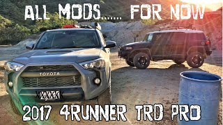 (Part21) 2017 4Runner TRD PRO Cement. ALL MODS so far... =)