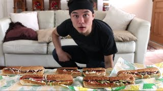 5 Subway Footlong Challenge *Revisited* (Record Attempt) by : Matt Stonie