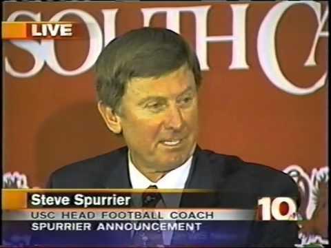 Steve Spurrier announced as head football coach for the University of South Carolina 11-23-2004