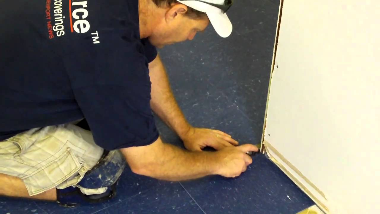 How to cut vct tile without a tile cutter youtube dailygadgetfo Choice Image
