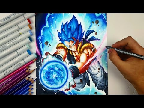 Drawing GOGETA Ssj Blue | NEW DBS MOVIE