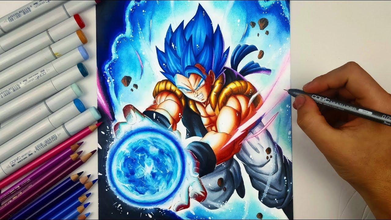 Drawing Gogeta Ssj Blue New Dbs Movie Youtube