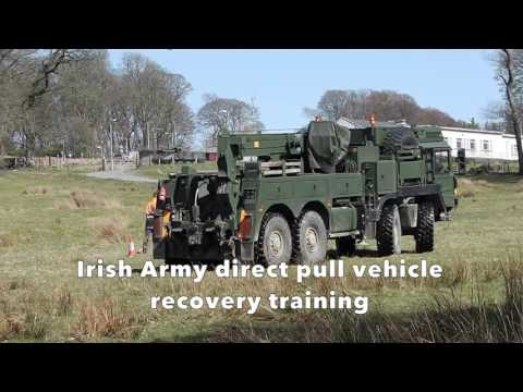 Irish Army MAN SX45 8x8 wrecker in action (Part1)