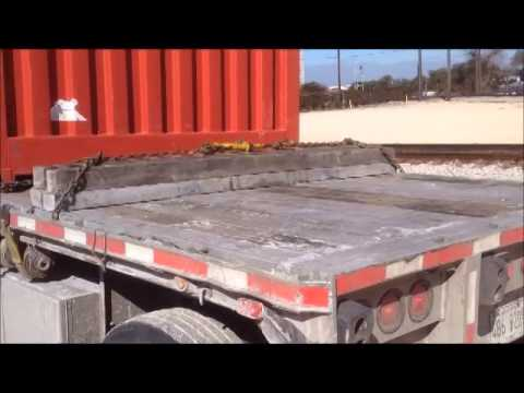 Trucking School  How to secure 2 containers flatbed port texas