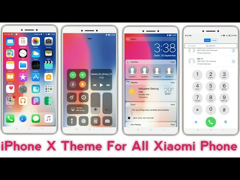 Iphone X Theme For MIUI 9, MIUI 10 | Iphone X Theme For All Xiaomi Phone | Install Third Party Theme