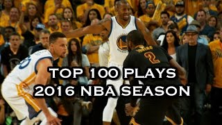Video Top 100 Plays: 2016 NBA Season download MP3, 3GP, MP4, WEBM, AVI, FLV November 2017
