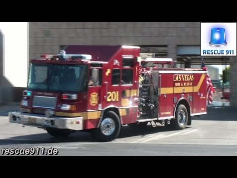 Rescue 1 + Engine 201 Las Vegas Fire-Rescue