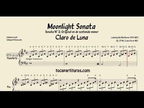 Moonlight Sonata Piano Easy Sheet Music for Piano