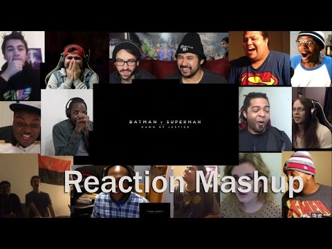 Batman v Superman  Dawn of Justice Official Trailer #2 REACTION MASHUP