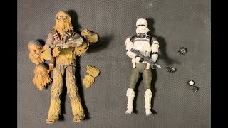 Star Wars Bandai review SOLO Chewbacca and Rogue One Combat Assault Tank Commander