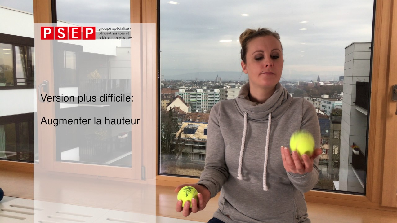 Exercice de physiothérapie «Le jongleur»