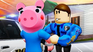 George Pig Gets Arrested?! ( A Roblox Piggy Movie)