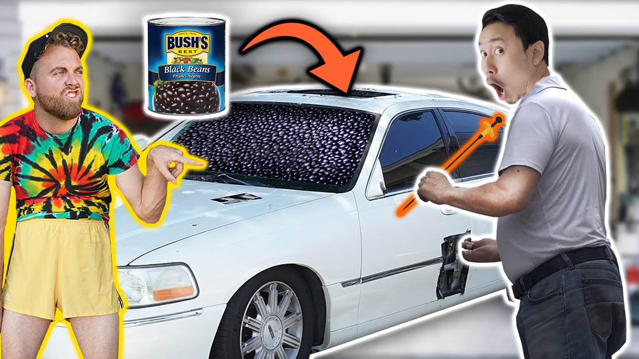 Filling My ENTIRE Car with Beans and Hiring a Locksmith to Open it