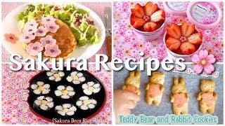 Top 7 SAKURA (Japanese Cherry Blossom) Recipes   OCHIKERON   Create Eat Happy :)