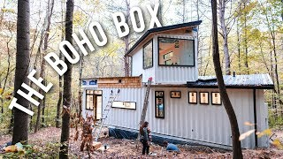 Gambar cover Building A Shipping Container Home   THE BOHO BOX AIRBNB!