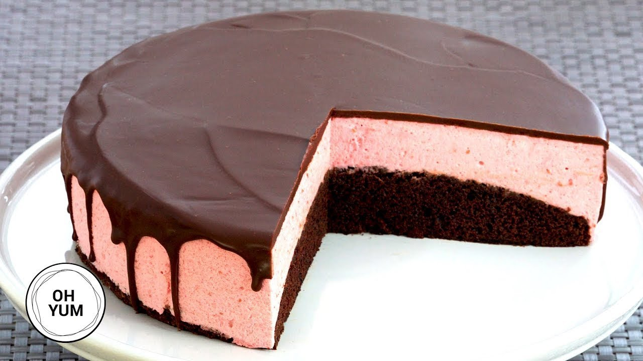 Chocolate Raspberry Mousse Cake Anna Olson