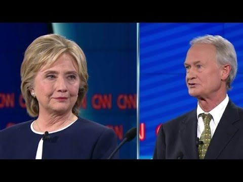 (Democratic Debate) Hillary Clinton declines to respond to Chafee on email