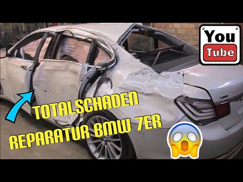Bmw 7er Serie F01 750i Totalschaden Unfall Reparatur / Full Body Repair Car Crash