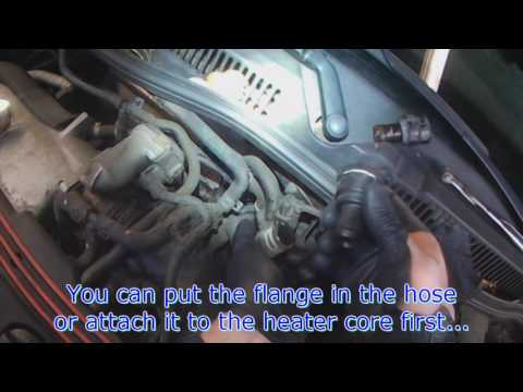VW A4: Heater core hose flange replacement