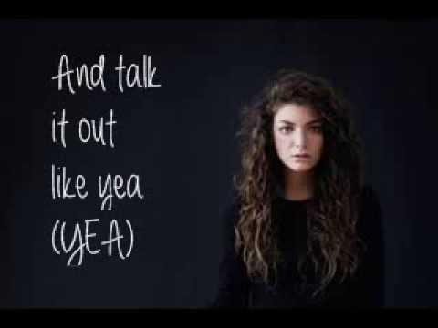 Lorde - Tennis Courts (Lyrics)
