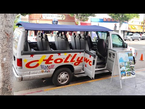 Hollywood Van Tour ( Full Experience ) - Celebrity Homes / Beverly Hills / Rodeo & Mulholland Drive