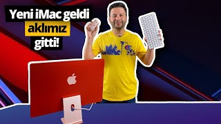M1 işlemcili 24 inçlik Yeni iMac kutusundan çıkıyor! - Aklımızı başımızdan aldı!