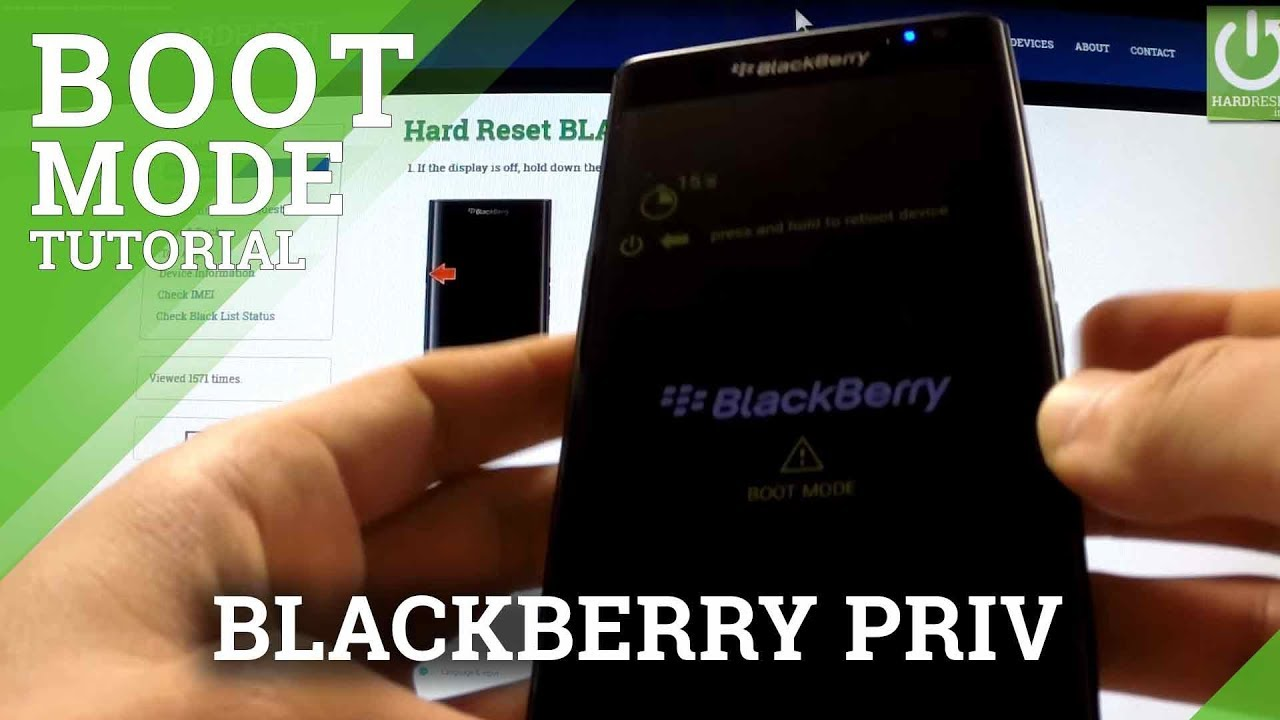Boot Mode BLACKBERRY Priv - HardReset info