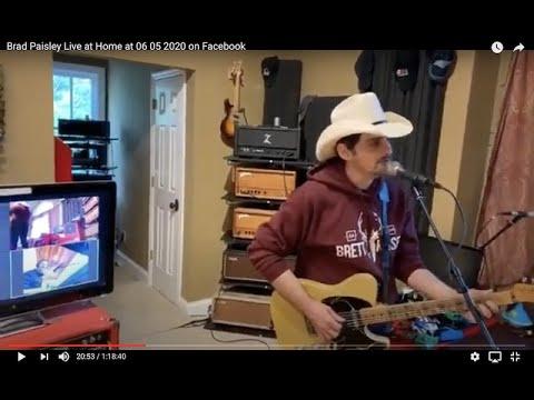 Brad Paisley Live at Home at 06 05 2020 on Facebook