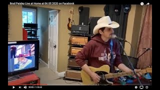 Brad Paisley Live at Home at 06 05 2020 on Facebook