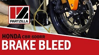 How to Bleed Motorcycle Brakes on a Honda CBR 600 RR