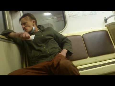 Наркоман в метро часть 3