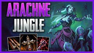SMITE Conquest: Arachne Jungle Gameplay   The Forgotten Jungler!