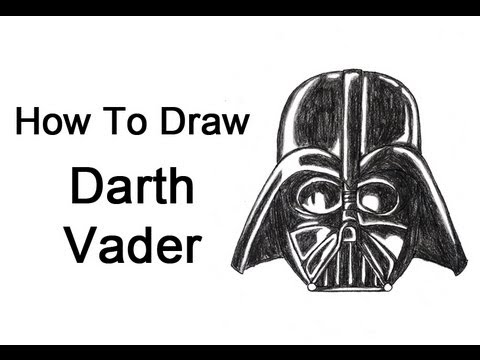 How To Draw Darth Vader Head Helmet Youtube