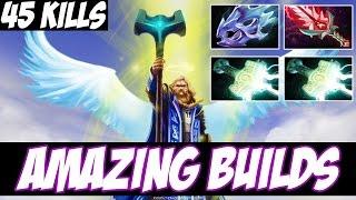 45 KILLS OMNI WITH 2 MJOLLNIR AND BLOODTHORN - Amazing Builds vol 3 - Dota 2